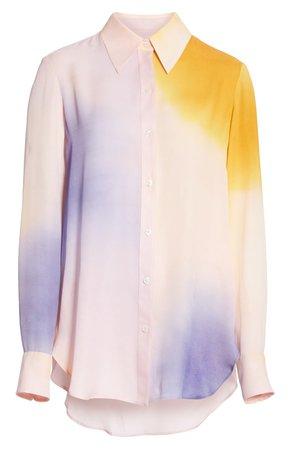 Jayne Dip Dye Silk Blouse A.L.C.