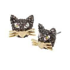 Crystal Stud Cat Earrings - Pinterest