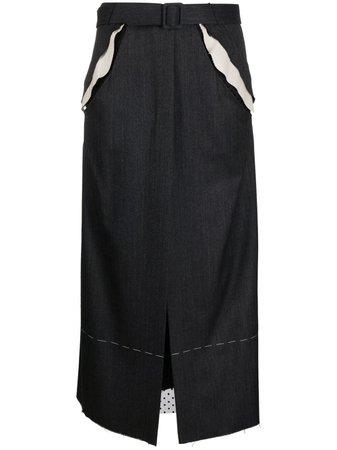 Maison Margiela cut-out Belted Skirt - Farfetch