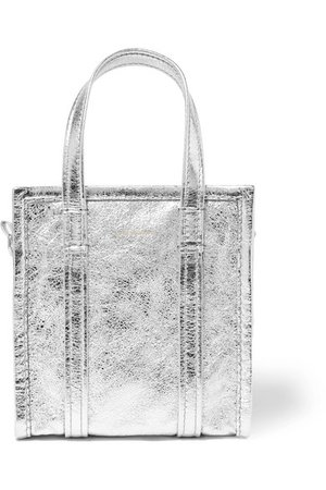 Balenciaga | Bazar XXS AJ metallic textured-leather tote | NET-A-PORTER.COM