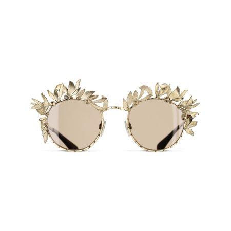Round Sunglasses Gold eyewear | CHANEL