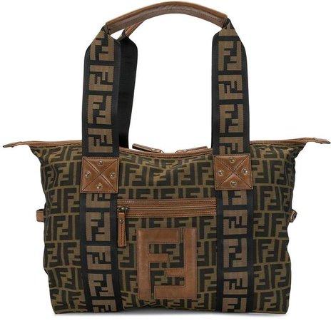 FF print shoulder bag