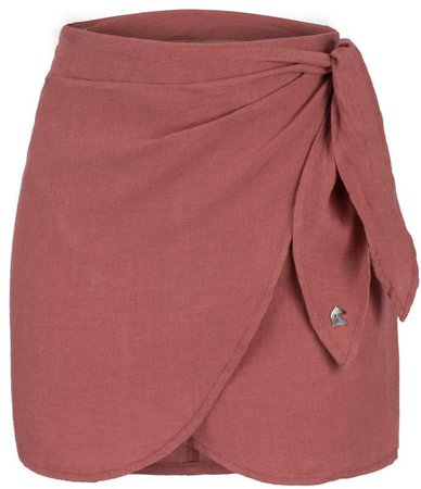 Dor Raw Luxury - Cheese and Grapes Linen Skirt Cassis
