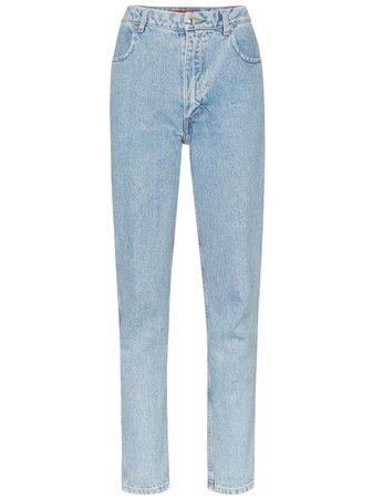 Eckhaus Latta High Rise Straight-Leg Jeans   Farfetch.com