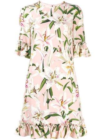 Dolce & Gabbana ruffled party dress - Pink