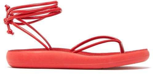 Pieria Wraparound Leather Sandals - Womens - Red