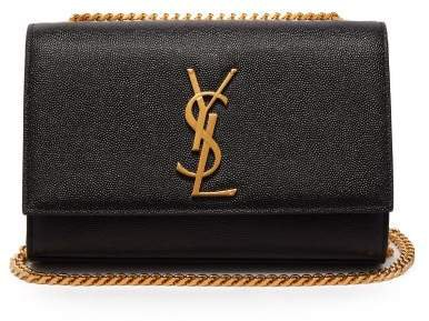 Kate Grained Leather Cross Body Bag - Womens - Black