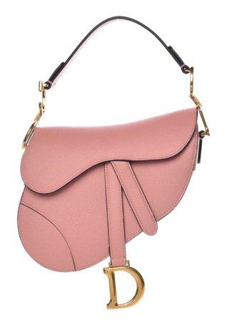 pink Dior saddle bag