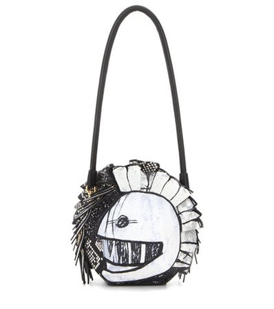 Pallas Helmet leather and snakeskin shoulder bag