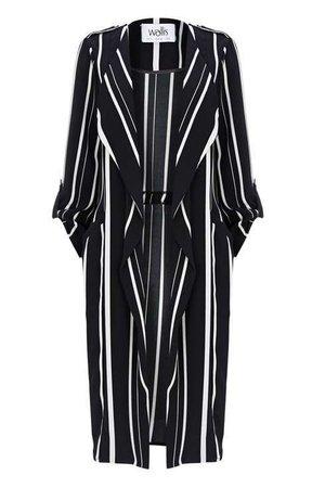 Wallis Black Striped Duster Jacket