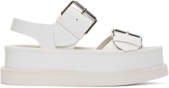 Stella McCartney White Buckles Sandals