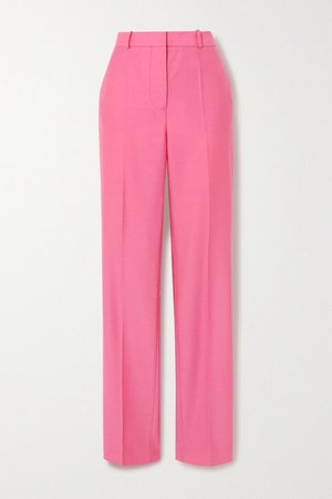 Pink Drainpipe wool straight-leg pants   Victoria, Victoria Beckham   NET-A-PORTER