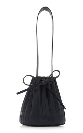 large_mansur-gavriel-blue-mini-pleated-leather-bucket-bag.jpg (499×799)