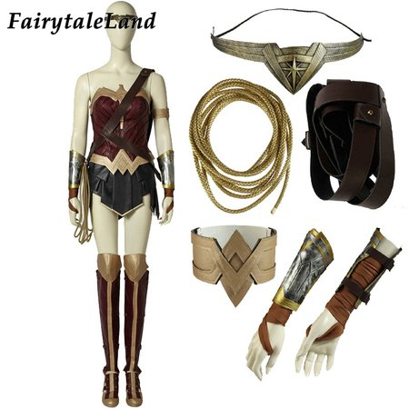 Wonder Woman Cosplay Costume Custom Made Halloween Fancy Costumes Adult Superhero Diana Prince Outfit Costume Wonder Woman Suit-in Movie & TV costumes from Novelty & Special Use on Aliexpress.com | Alibaba Group