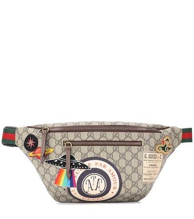GG Supreme appliquéd belt bag