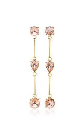Gold-Tone And Crystal Earrings by Oscar de la Renta | Moda Operandi