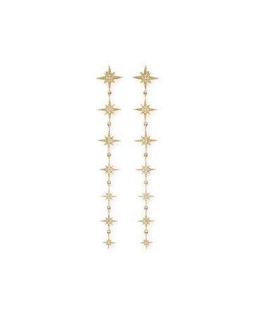 Sydney Evan Starburst Diamond Drop Earrings