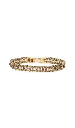 Vanessa Mooney The Frenzy Bracelet in Pink & Crystal | REVOLVE