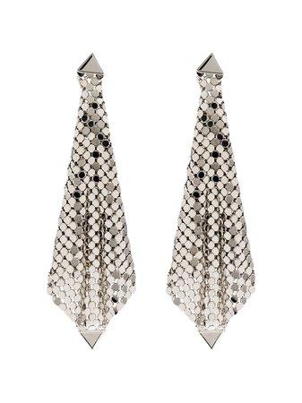 Paco Rabanne, Silver-Tone Earrings