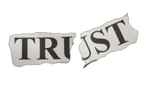 broken trust newspaper clipping grung png aesthetic