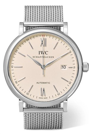 IWC SCHAFFHAUSEN | Portofino Automatic 40 stainless steel watch | NET-A-PORTER.COM