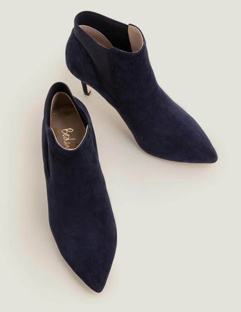 Elsworth Ankle Boots - Navy | Boden US