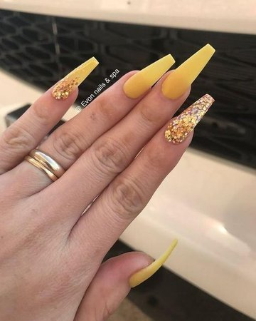 Pinterest - The 40 Hottest Yellow Acrylic Nails to Spice Up Your Fashion #nailart | Nail Art