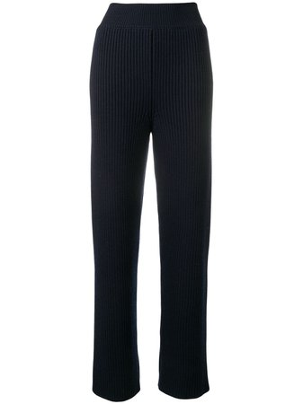 Shop blue AMI Rib Pants with Express Delivery - Farfetch