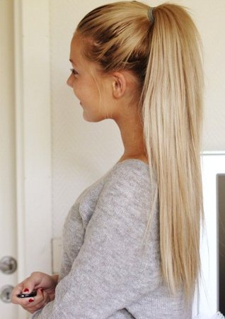 Straight Blonde Ponytail