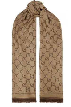 Gucci | Sten reversible intarsia wool scarf | NET-A-PORTER.COM