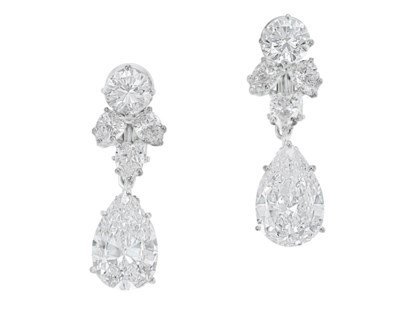 DIAMOND EARRINGS, HARRY WINSTON | Jewelry, earrings | Christie's