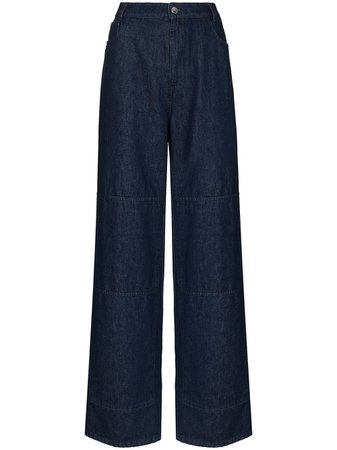 Shop Raf Simons wide-leg jeans with Express Delivery - FARFETCH