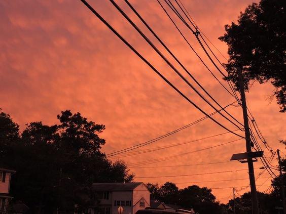 sunset skies peach aesthetic photography orange