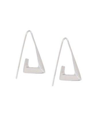 BAR JEWELLERY Para Angular Hoop Earrings - Farfetch