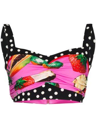 Dolce & Gabbana Top à Imprimé Graphique - Farfetch