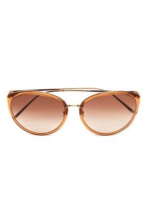 Солнцезащитные очки формы «кошачий глаз» Linda Farrow | Линда Фэрроу купить в интернет-магазине Aizel.ru