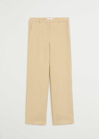 Flowy straight-fit trousers - Woman | Mango Saudi Arabia