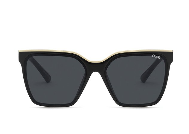 LEVEL UP Square Brow Bar Sunglasses | Quay Australia