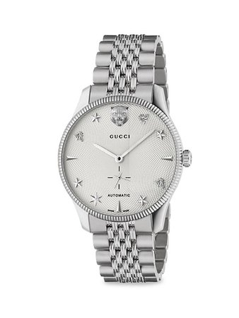Shop Gucci Stainless Steel Bracelet Watch | Saks Fifth Avenue