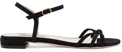 Starla Suede Sandals - Black
