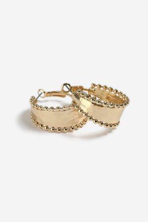 **Ball Edge Hoop Earrings - Jewellery - Bags & Accessories - Topshop