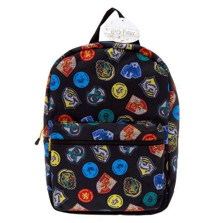 Harry Potter™ Hogwarts House Crest Backpack - Black   Claire's US
