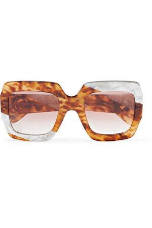 Gucci   Oversized square-frame tortoiseshell acetate sunglasses   NET-A-PORTER.COM