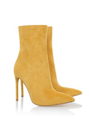 'Racy' Yellow Suede Ankle Boots - Mistress Rocks