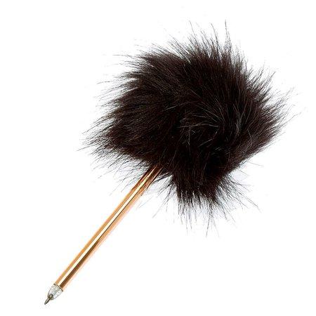 Fuzzy Furry Black Pen