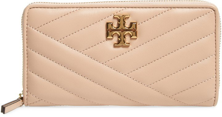 Kira Chevron Quilted Zip Leather Continental Wallet