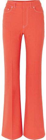 Twill Flared Pants - Orange