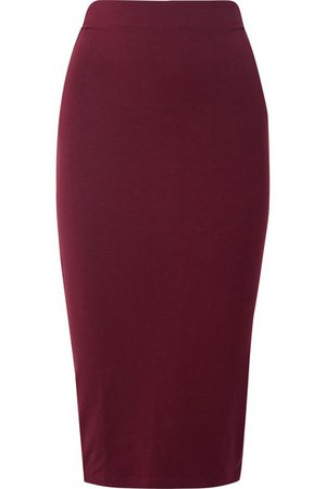 Ninety Percent   Stretch-Tencel midi skirt   NET-A-PORTER.COM