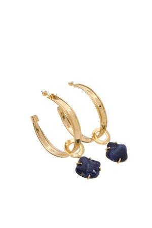 Alberta Ferretti Golden Earrings With Stone