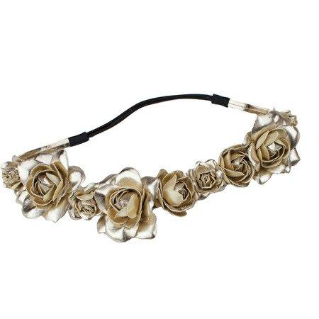 Rose Headband in Metallic Gold by KITSCH